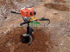 4冲程动力地钻 手推式挖坑机