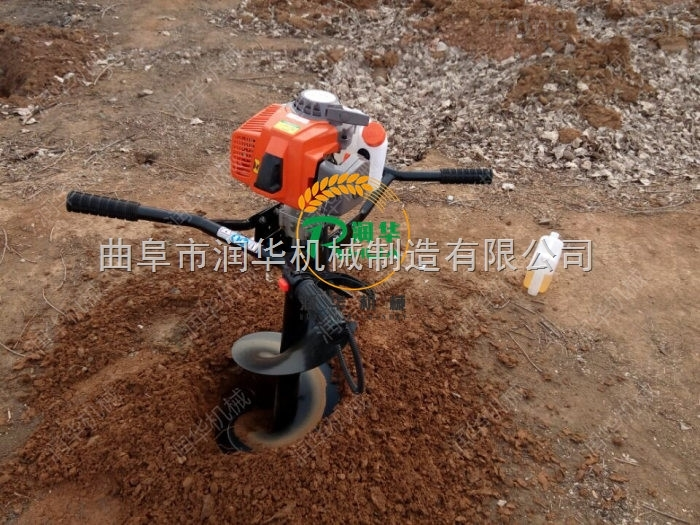 大马力挖坑机 便携式汽油大棚立柱机