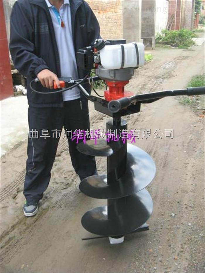 超硬土质专用挖坑机 坚固耐磨的小型地钻