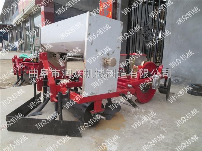 拖拉机带棉花播种机 玉米大豆膜上点播机