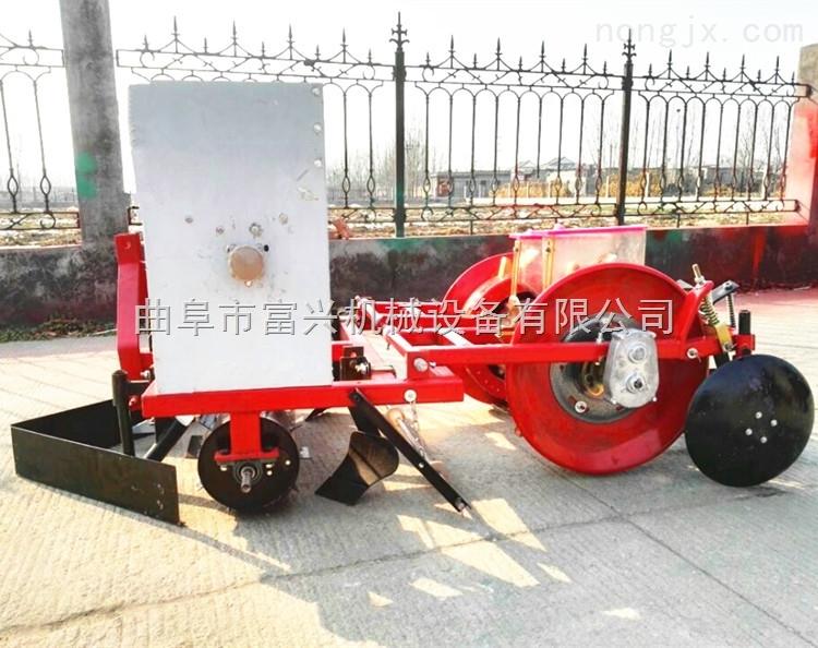 玉米覆膜播种机 拖拉机带动谷子精播机价格