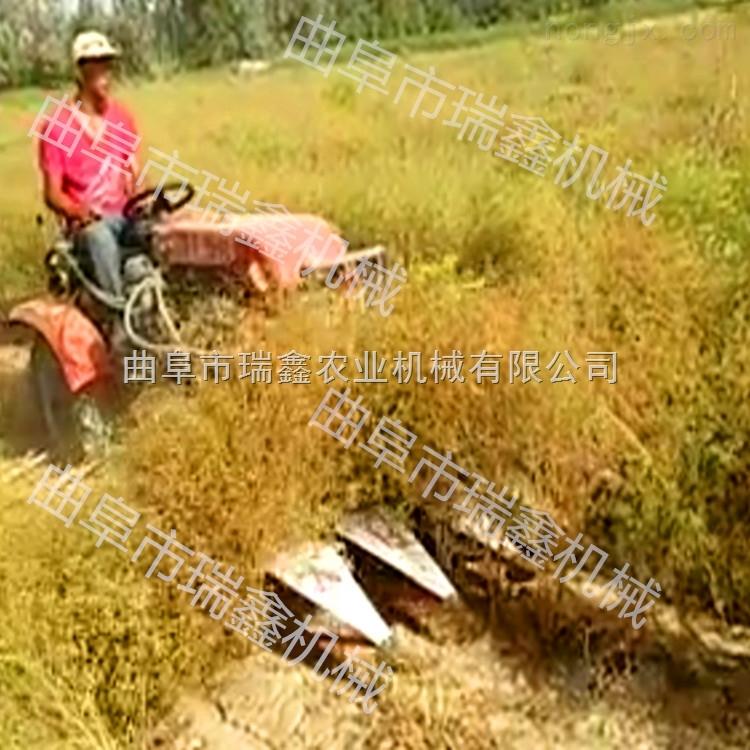 小型稻麦收割打捆一体机 小型牧草收割机