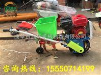 手推汽油施肥播种机 家用小型旋耕种植机