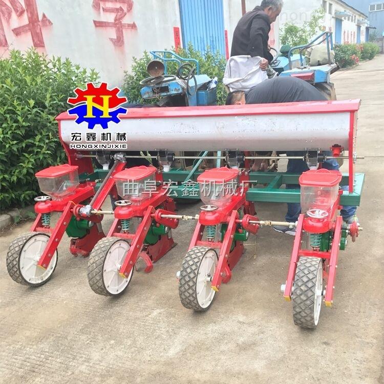 玉米施肥播种机图片 四轮悬挂式种油葵机