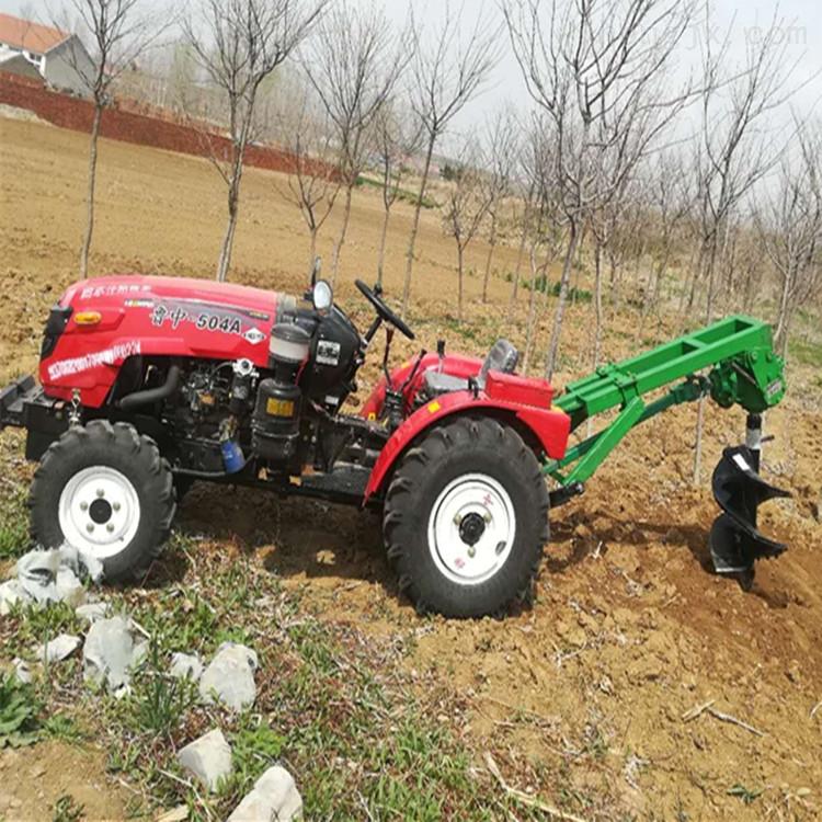 拖拉机带打树坑机 道路旁植树挖坑机