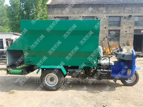 甘肃养殖机械撒料车 畜牧机械自走式喂料车