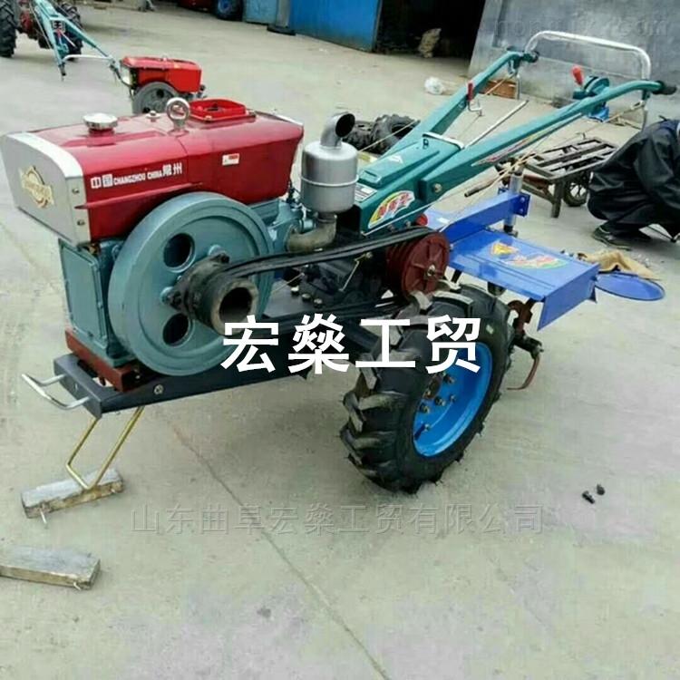 柴油水冷手扶犁地机 山地小型耕地机