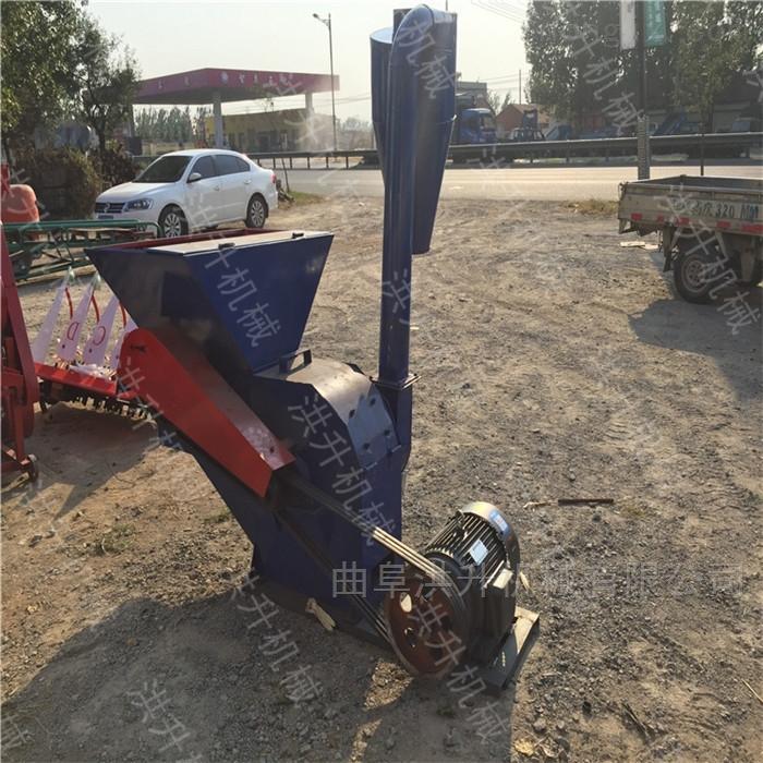 电动机带动秸秆揉丝粉碎机 汽油树枝破碎机