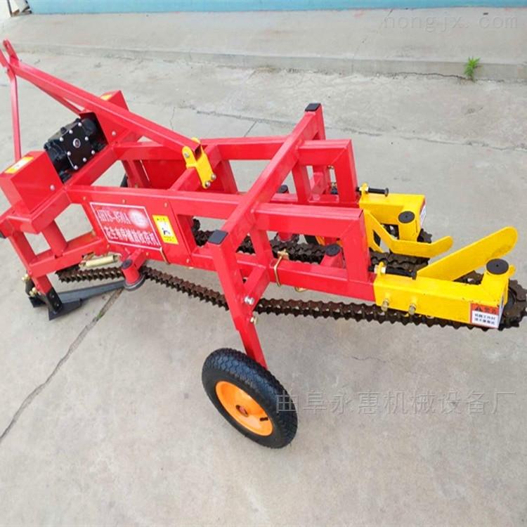 供应四轮拖拉机牵引链条式花生收割机