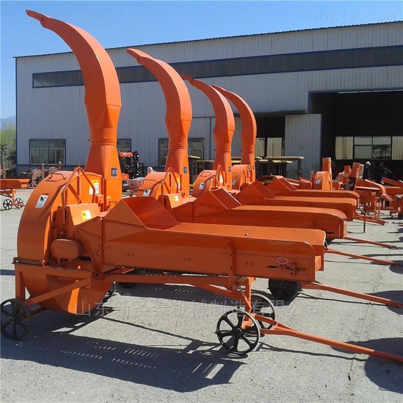 大产量铡草机 输送链条式秸秆切草机