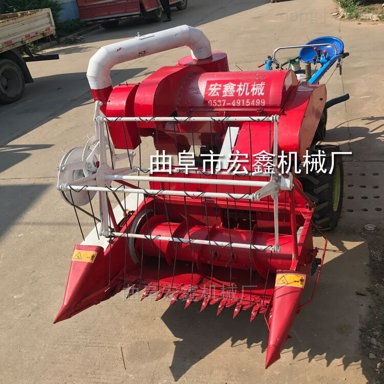 自动装袋微型联合收割机 带脱粒割小麦机