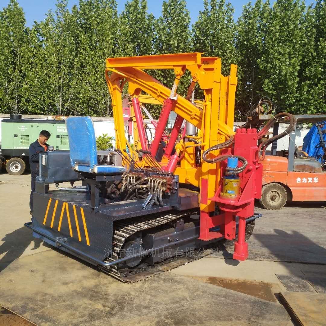 大马力护栏高速液压打桩机新型装置