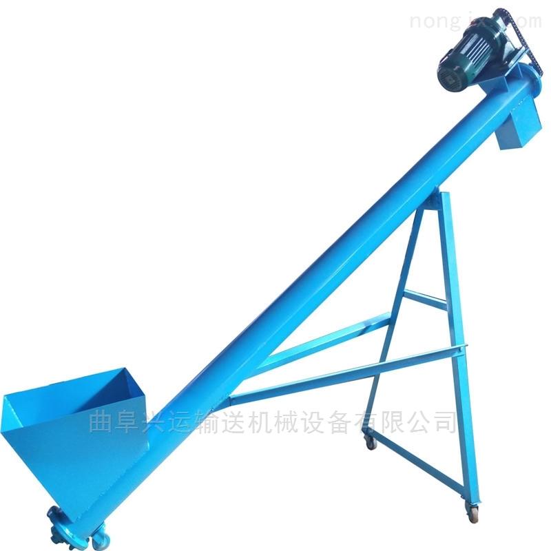 水泥粉用加料绞龙 装仓灌包用螺旋提升机