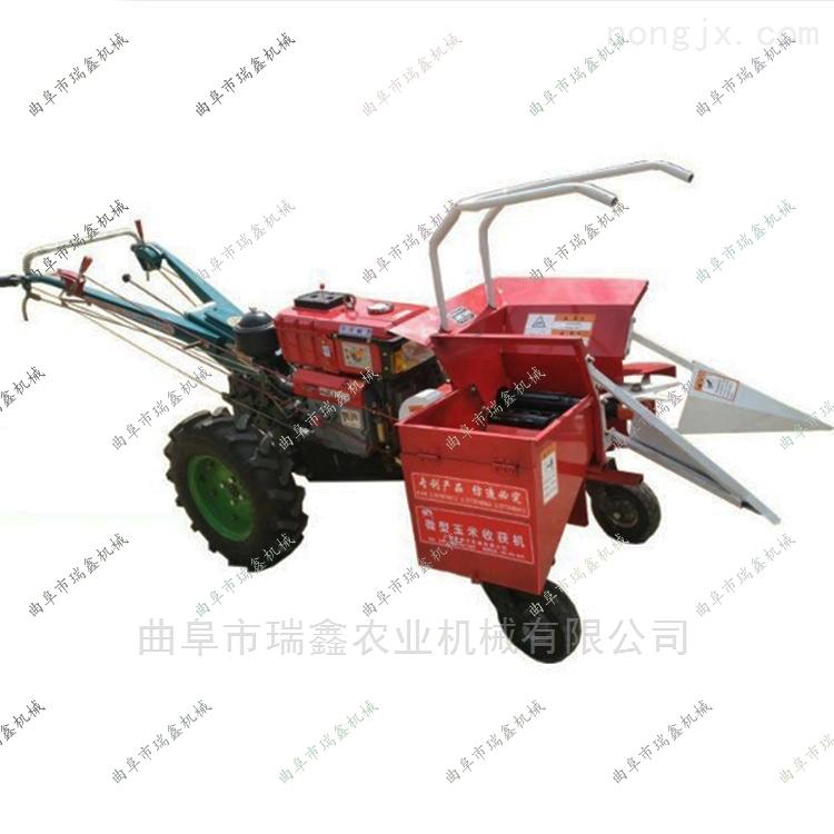 新款手扶车带玉米收获机 小型秸秆还田机