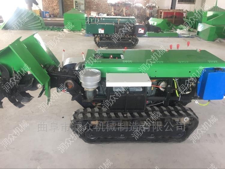 樹苗種植開溝施肥機 柴油履帶式果園管理機