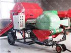 郑州驴场饲草青贮打捆机 机动性好的包膜机