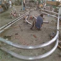 异形管盘片式提升机 长度定制散粮管链机