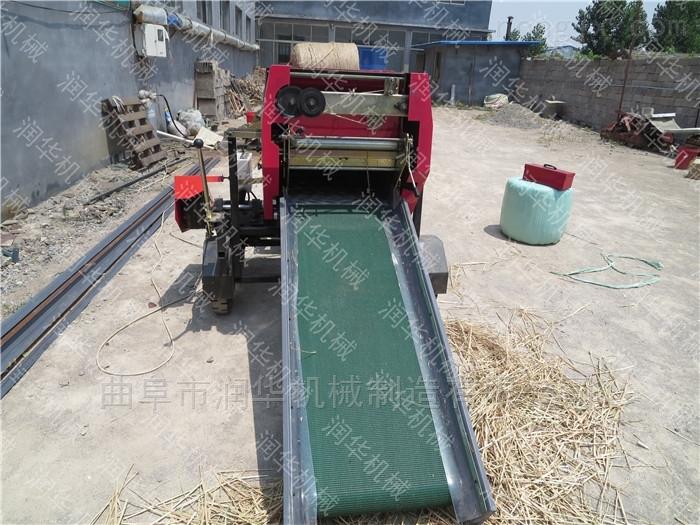 农场专用饲料粉碎包膜机 秸秆牧草打捆机