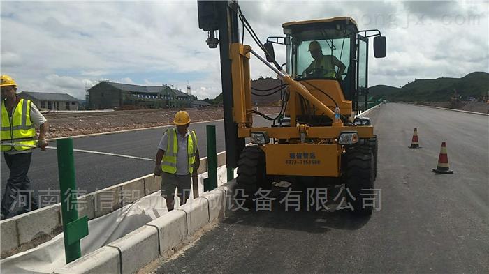 渮澤高速公路護欄打樁機打孔機