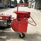 牵引式拖拉机带动还田机棒子秸粉碎玉米收获