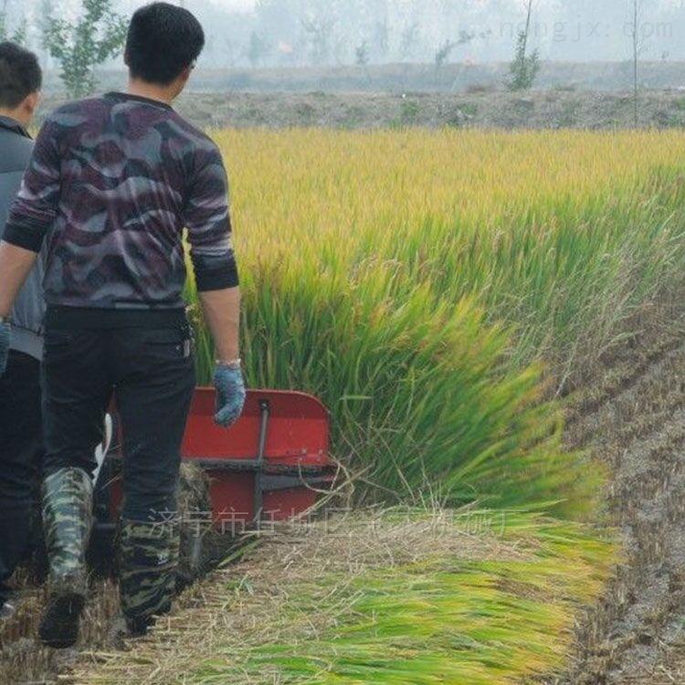 水稻小麦收割机四轮车载式桑条柳条割晒机