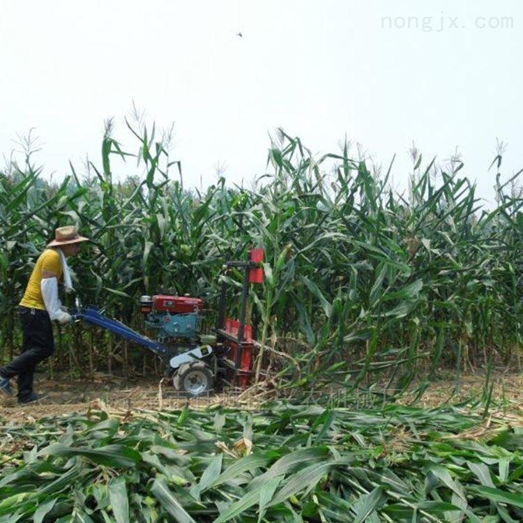 手推式玉米秸杆稻麦割倒机水稻小麦收割机