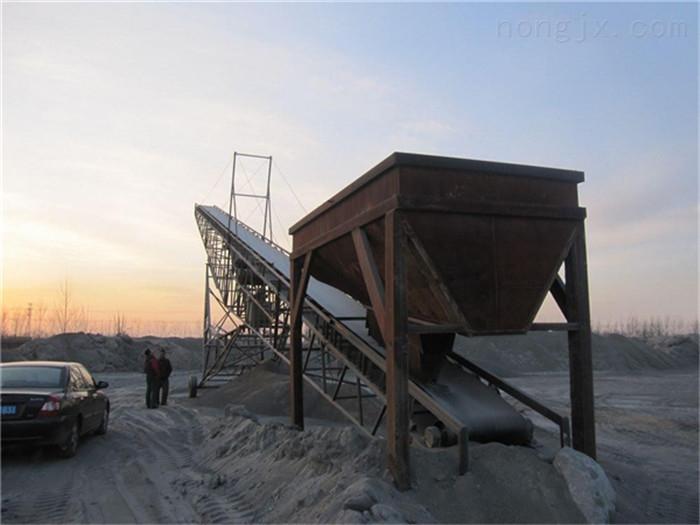 U型槽淤泥装车皮带机,砂石上料用输送机