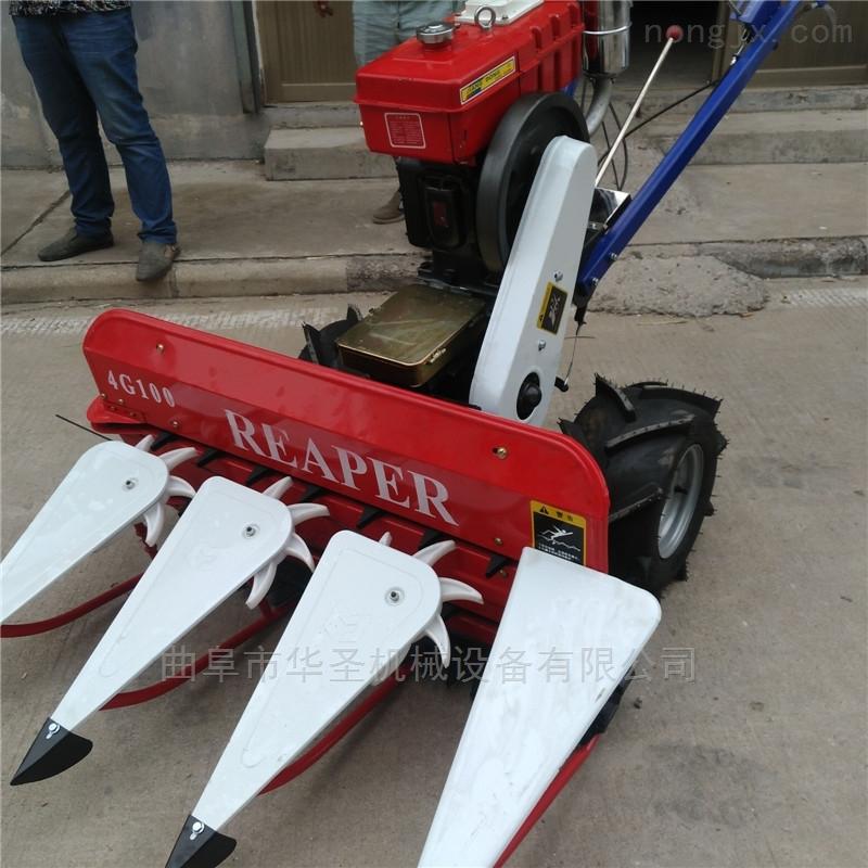 高效率玉米割晒机厂家直销大功率手扶收割机
