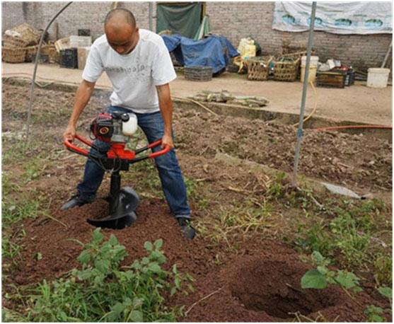 安庆小型汽油挖坑机 汽油地基打桩机批发