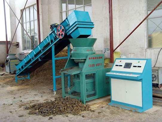 花生壳压块机适用原料广泛 重量轻