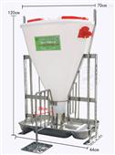 猪用自由采食槽猪食槽自动下料器大猪料槽