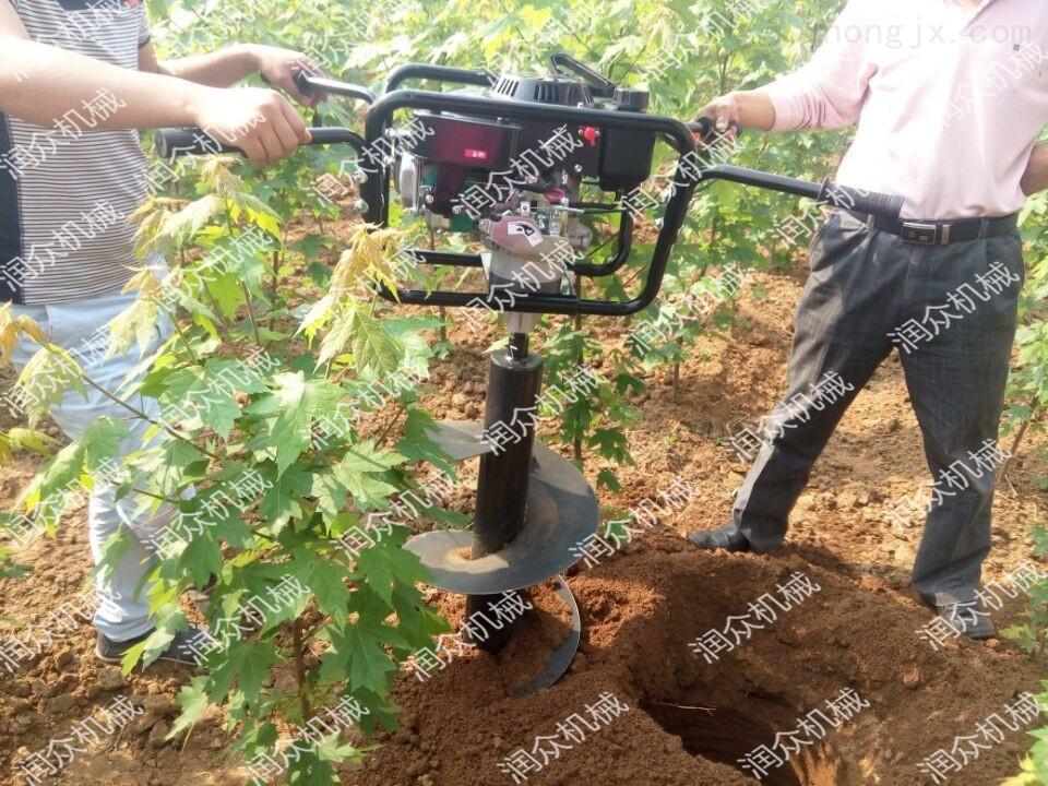 RZ WK-5-农业硬土地打眼机 四轮拖拉机带埋桩挖坑机