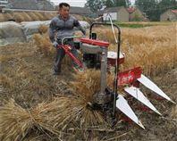 四轮车带玉米割杆机 手扶式谷子割晒机
