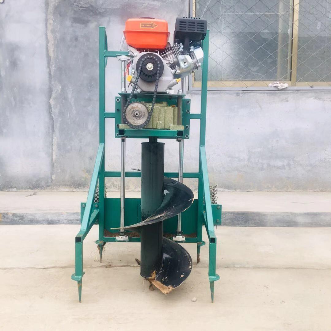 大马力拖拉机挖坑机 柴油手推打洞机型号