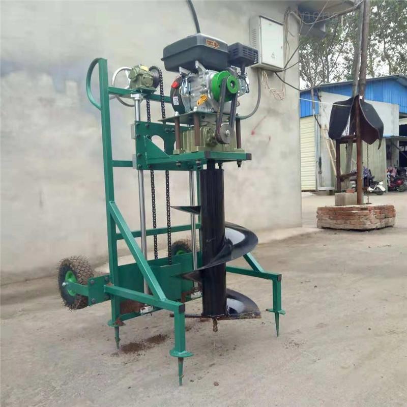 多功能植树挖坑机 框架式推车打坑机价格