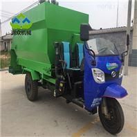 柴油三轮式牛羊撒料机 牲畜饲养的喂料车