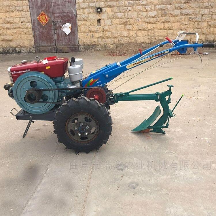 柴油電啟動手扶耕地機 多功能拖拉機