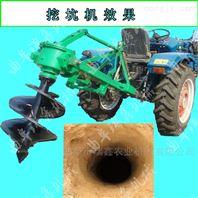 拖拉机带后置植树挖坑机