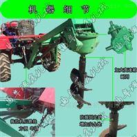 四川大型拖拉机带动挖坑机