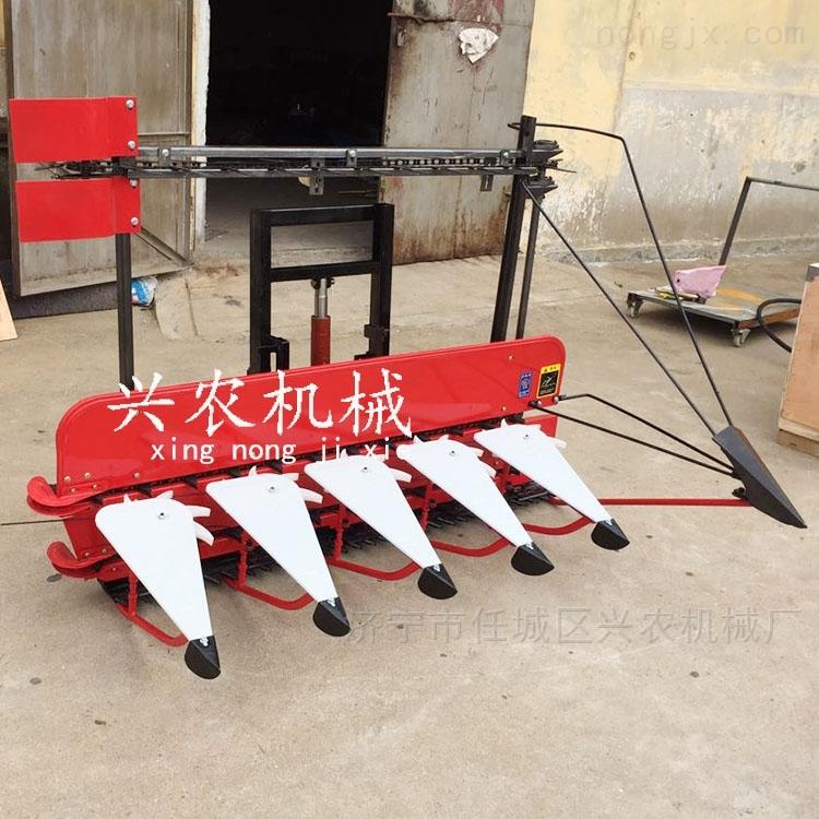 一边倒稻麦割晒机 小型大豆农作物收获机械
