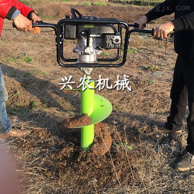 采用汽油机动力使用方便经济挖坑机