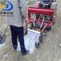 人力手推小型播种机 汽油机带动蔬菜点播机