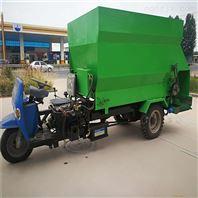 机械养殖撒料车 一面出料喂料车 撒料三轮车