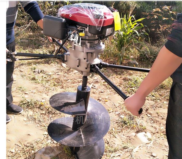 拖拉机悬挂种树打坑机 双人手提汽油植树机