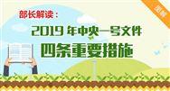"""农业农村部部长解读:2019年中央一号文件""""四条重要措施"""